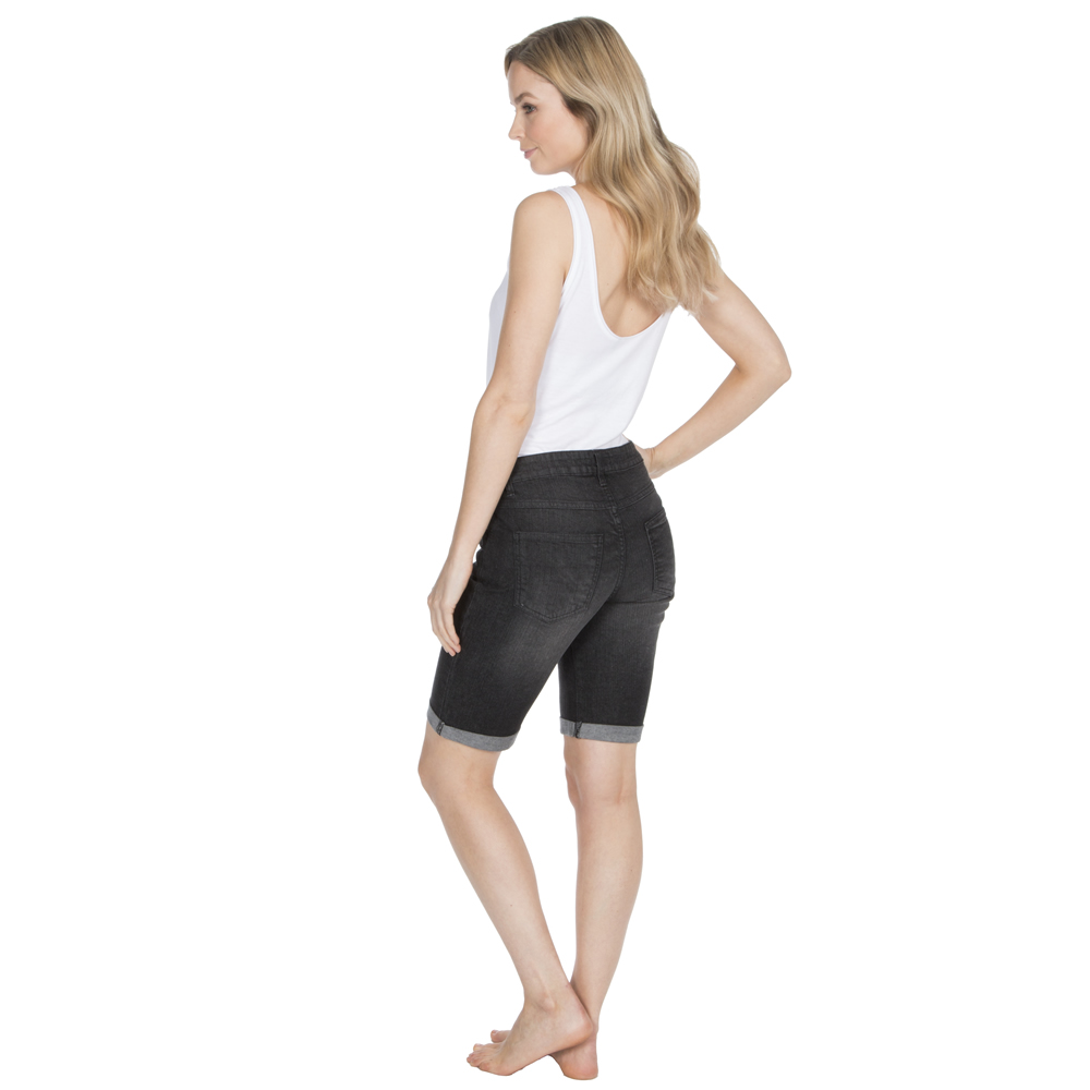 Donna Stretch Denim al ginocchio Pantaloncini Cotone alza Orlo ESTATE SPIAGGIA INDOSSARE