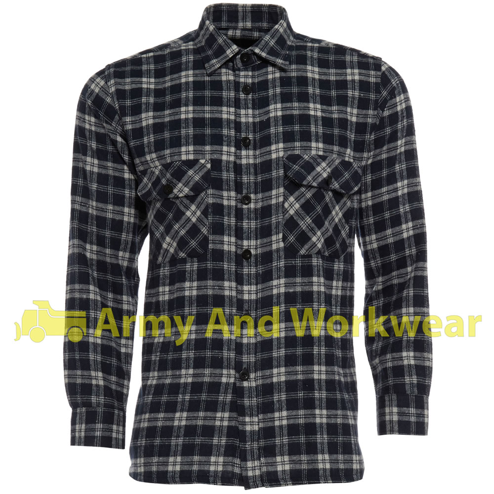 Lumberjack woven check warm flannel work mens casual for 100 cotton work shirts