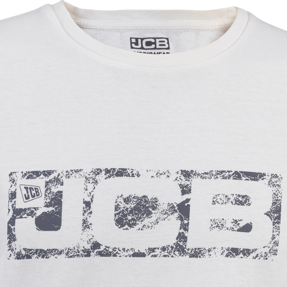 2 x JCB Hommes T-shirts à manches courtes Chemise de travail Top Summer Tee Shirt Gris /& Blanc