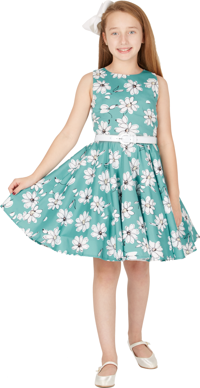 Kids /'Audrey/' Vintage Daisy 50/'s Party Girls Prom Dress