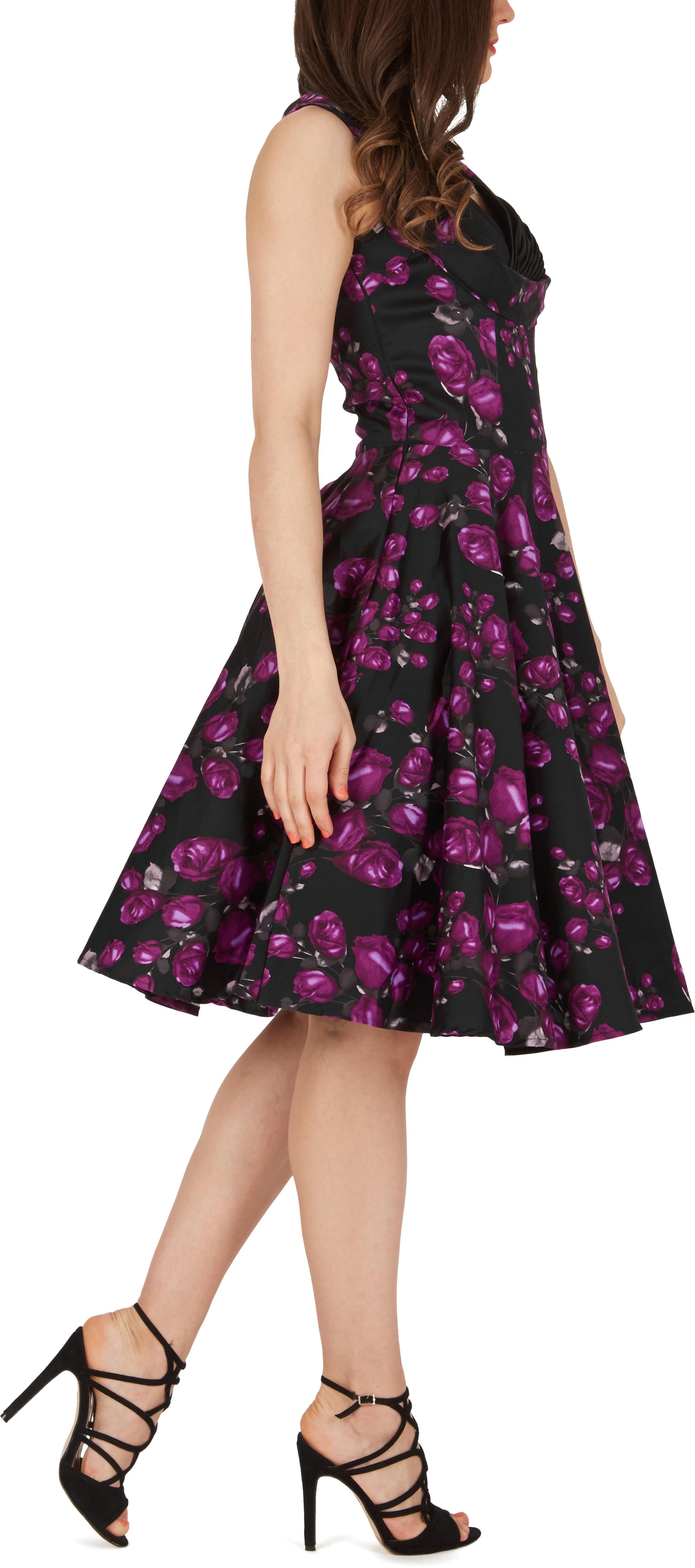 Beautiful /'Aura/' Classic Harmony 1950/'s Vintage Rockabilly Swing Dress