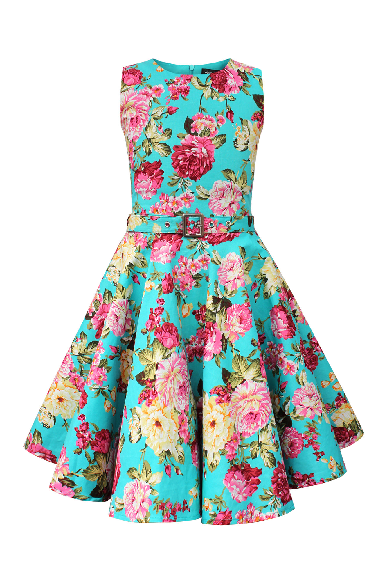 Girls \'Audrey\' Vintage Divinity 50s Inspired Floral Flared Party ...