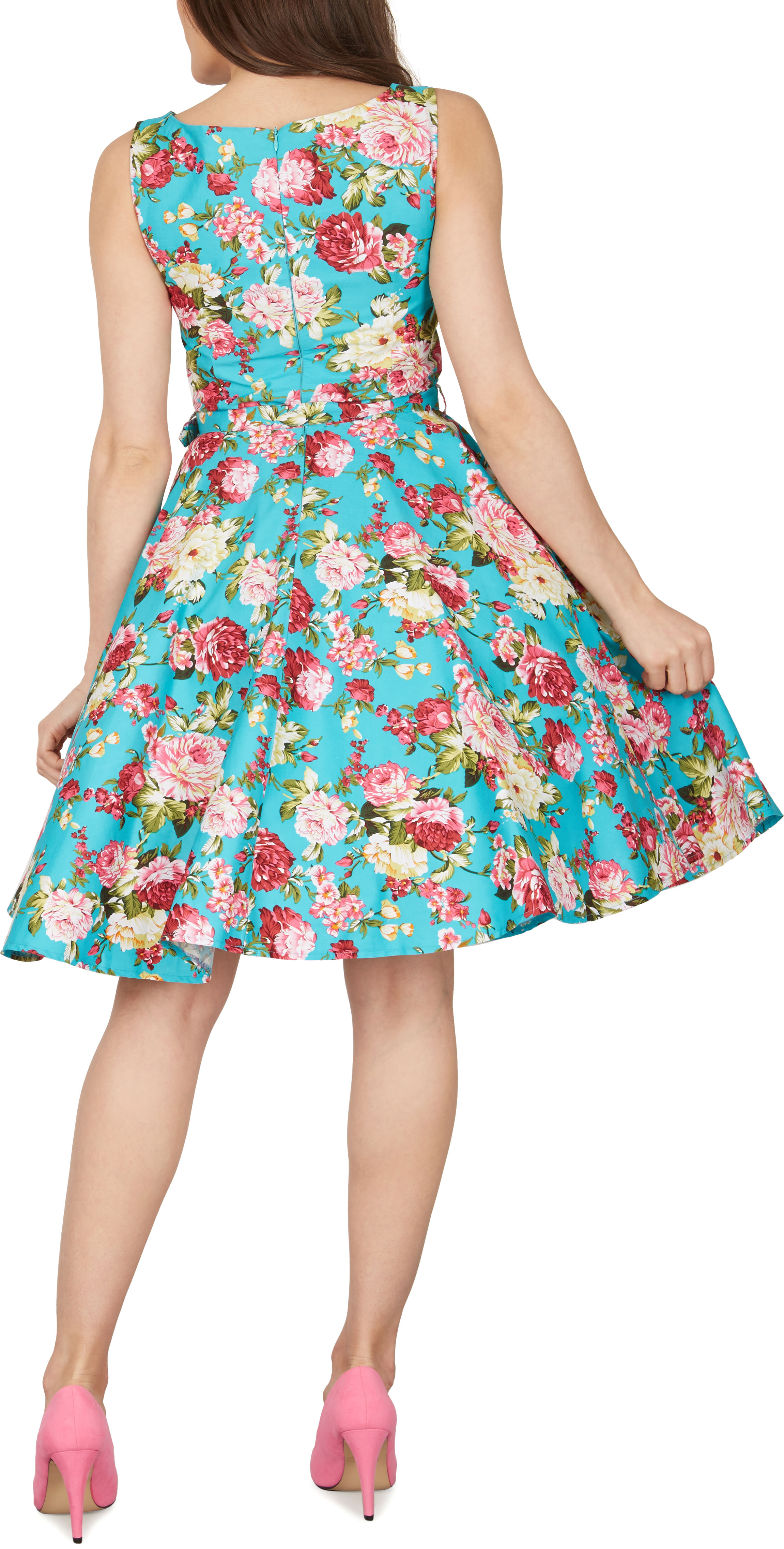 Audrey Hepburn Style Floral Vintage Divinity 1950s Rockabilly Swing ...