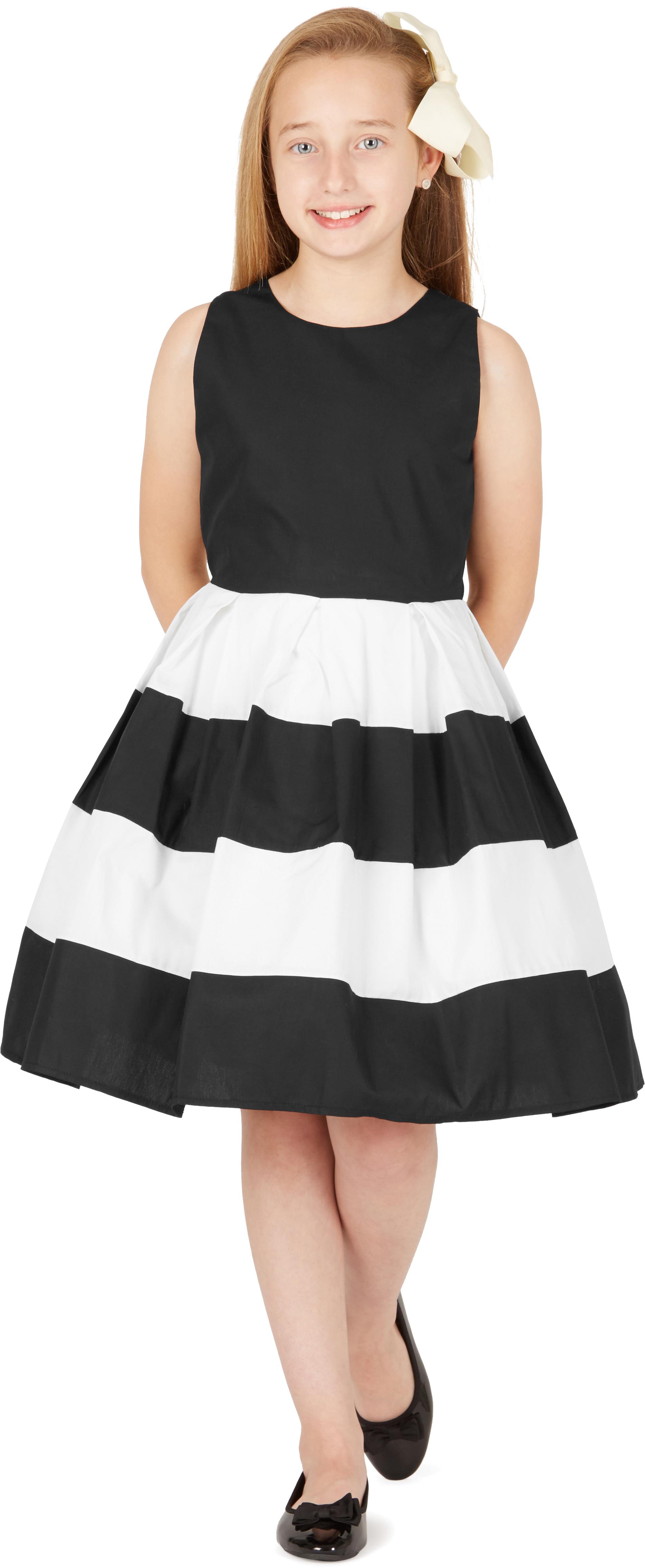 BlackButterfly Kids \'Lilly\' Vintage Striped 50\'s Party Girls Prom ...