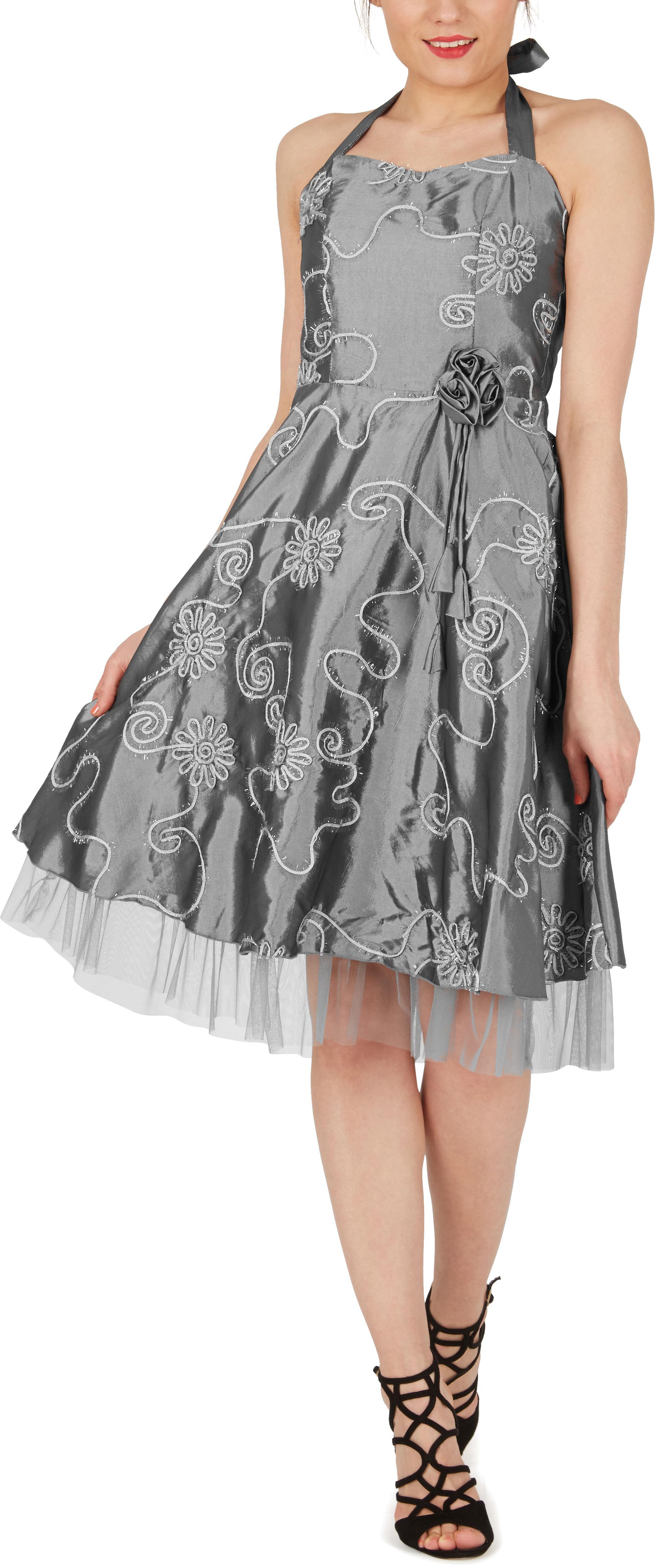 /'Rita/' Floral Cherish Bridesmaid 50s 60s Rockabilly Vintage Swing Prom Dress