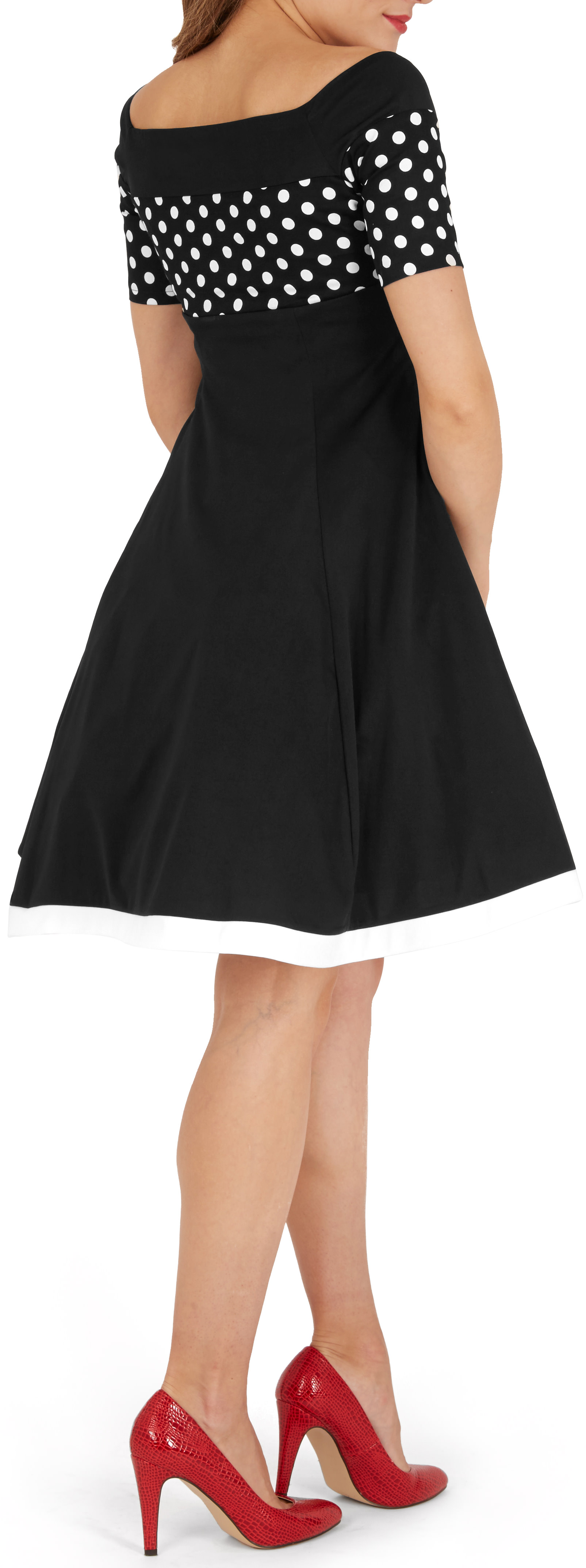 Classic Vintage /'Penny/' Polka Dot Rockabilly 50/'s Swing Prom Pinup Dress