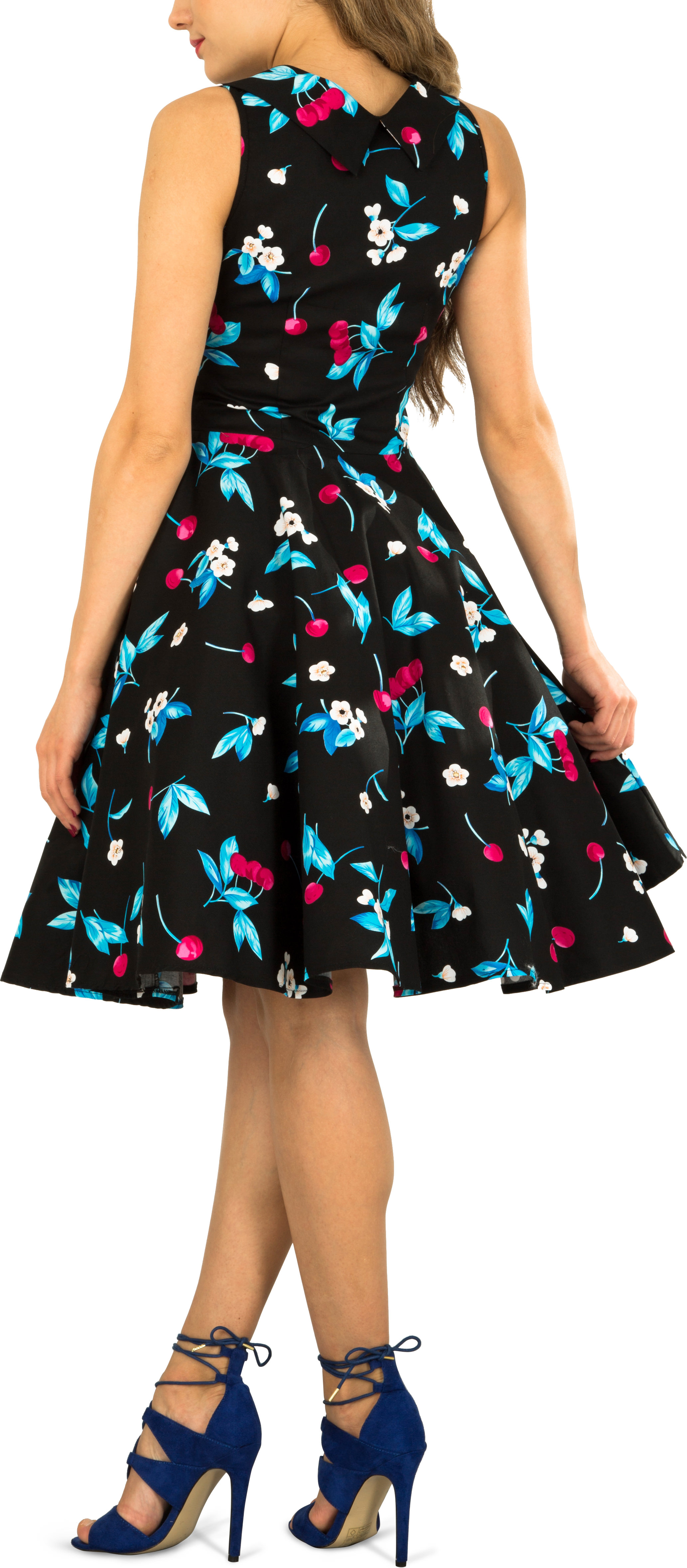 Beautiful Cherry /'Aura/' Classic Joy 50/'s Vintage Rockabilly Swing Dress