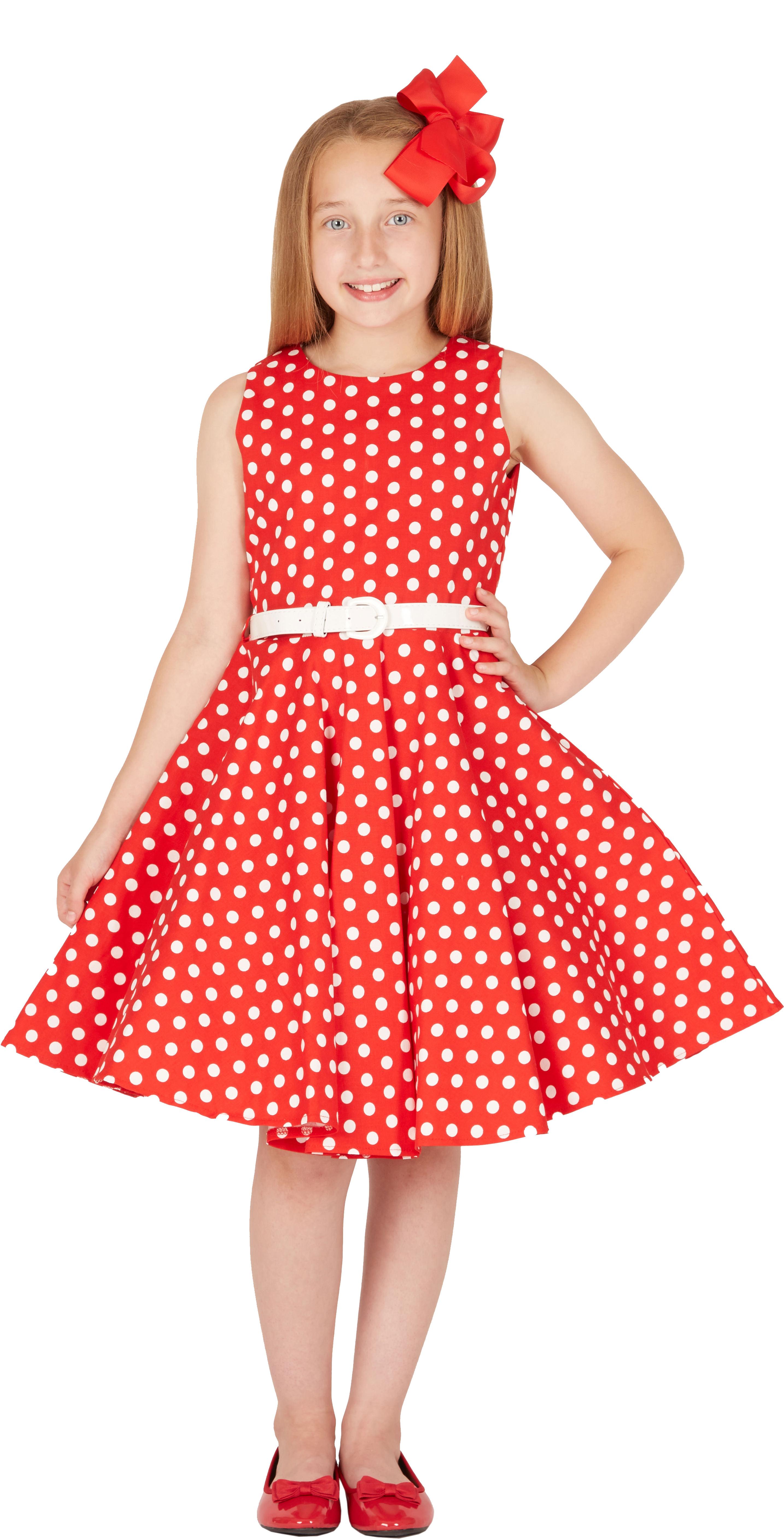 BlackButterfly Kids \'Audrey\' Vintage Polka Dot 50\'s Party Girls Prom ...