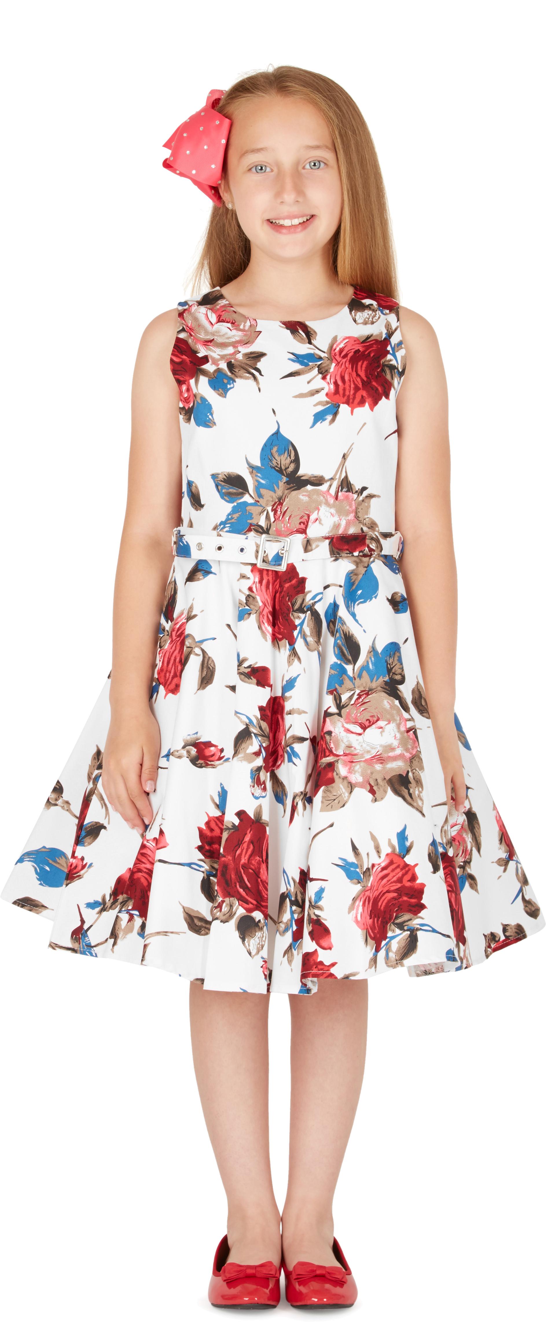 Kids \'Audrey\' Vintage Mercy 50\'s Floral Party Girls Prom Dress   eBay