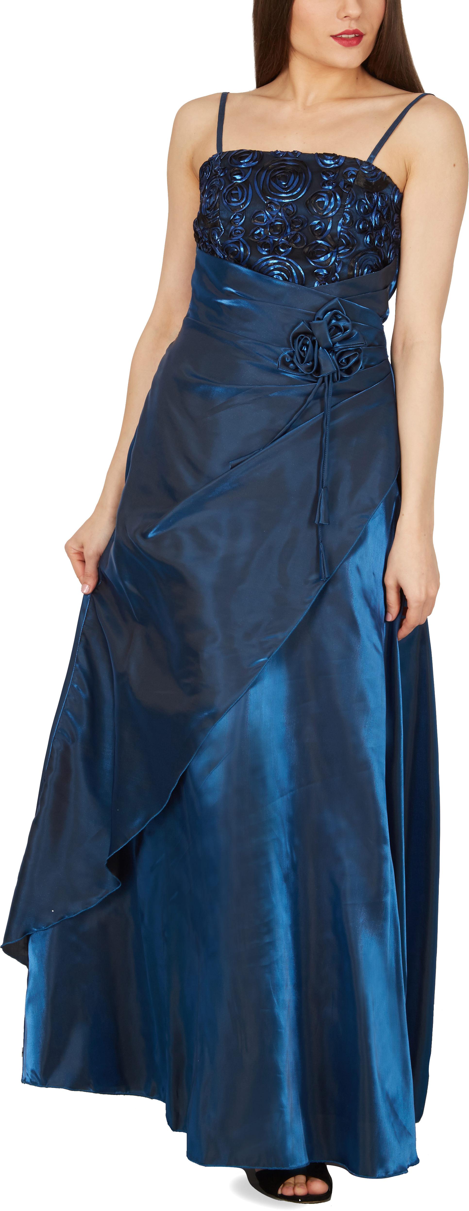 long satin evening wedding bridesmaid ball gown