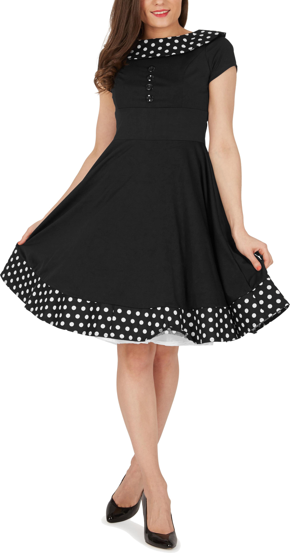 039-Rhianna-039-Vintage-Polka-Dot-Pin-Up-1950-039-s-Rockabilly-Swing-Prom-Dress miniatuur 6