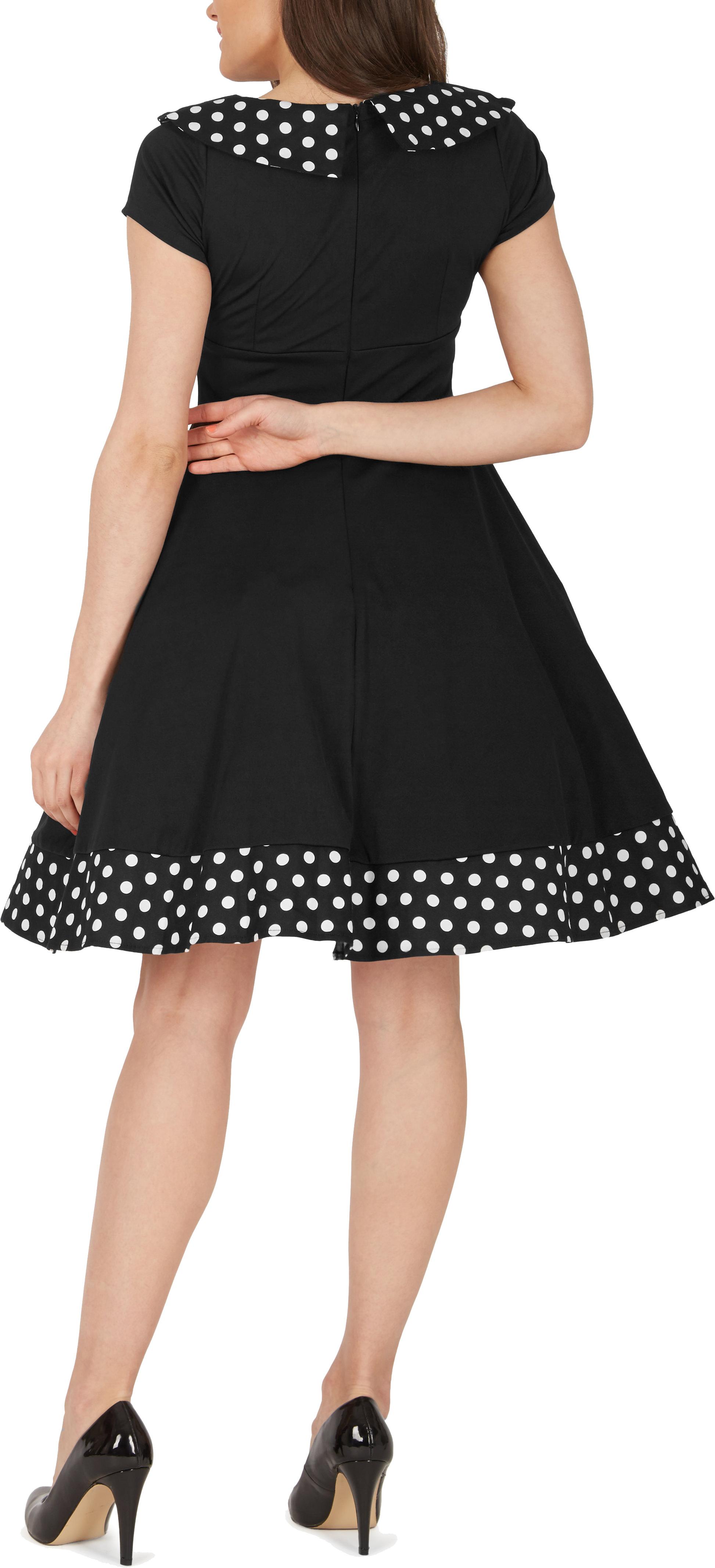 039-Rhianna-039-Vintage-Polka-Dot-Pin-Up-1950-039-s-Rockabilly-Swing-Prom-Dress miniatuur 4