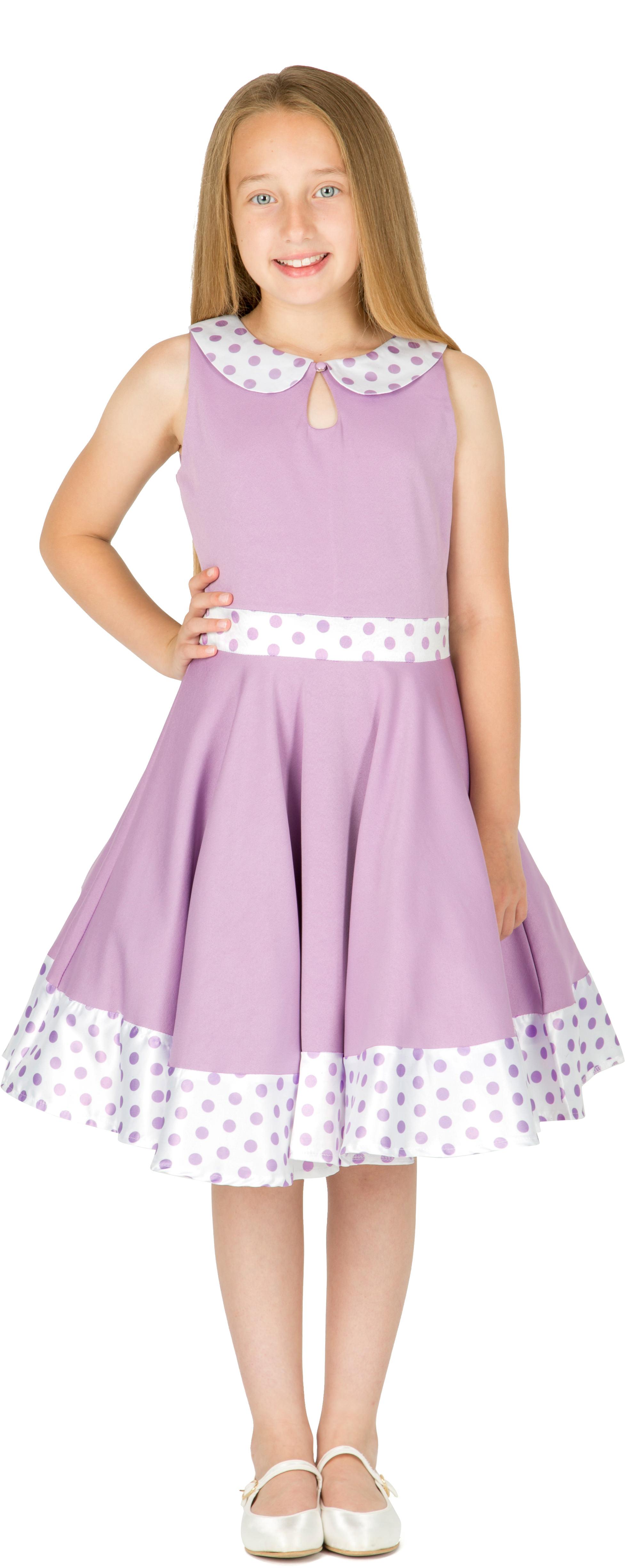 Beautiful Kids /'Zoey/' Vintage Polka Dot 50/'s Party Girls Prom Dress