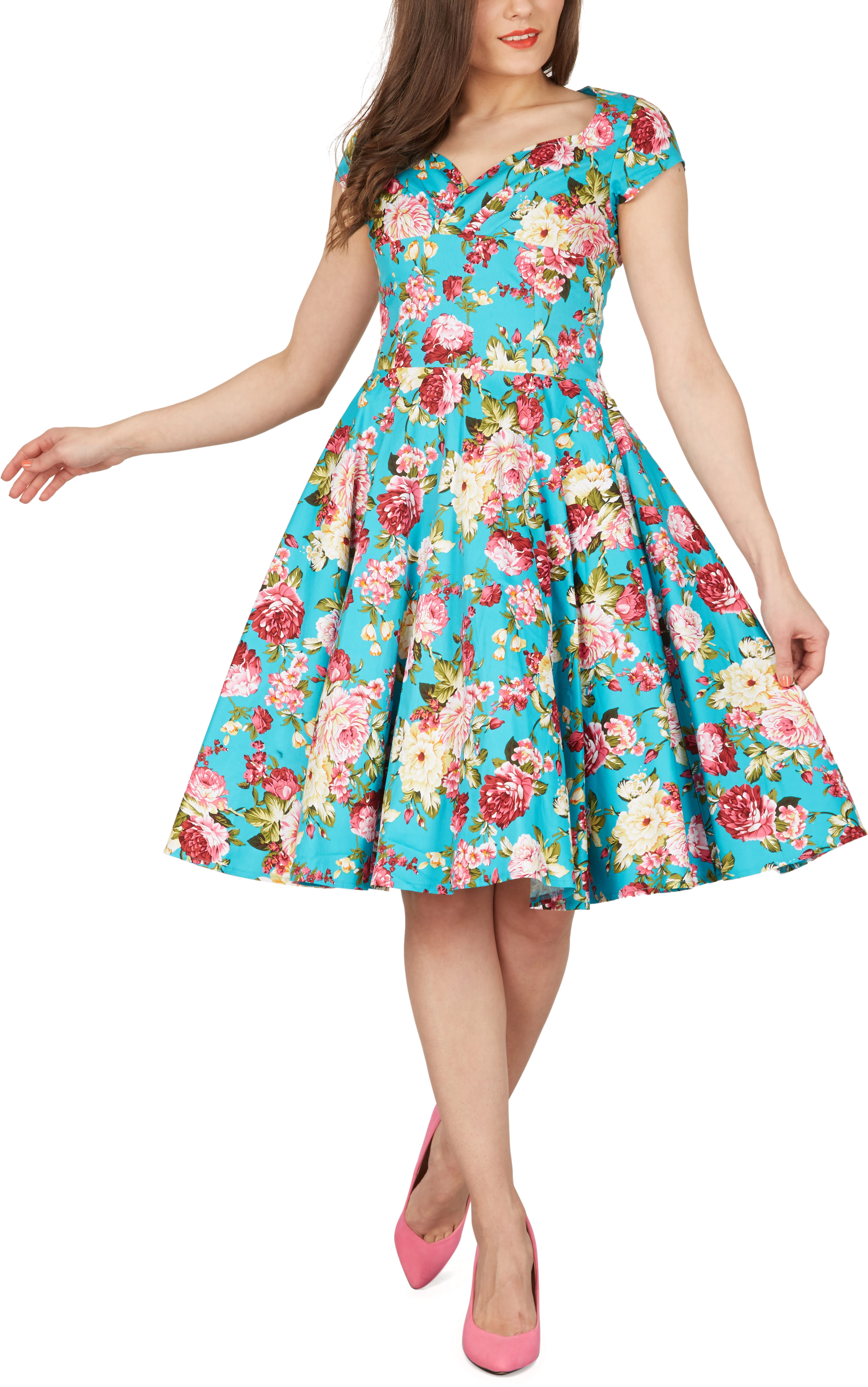 Ruby\' Vintage Divinity 1950\'s Floral Full Circle Rockabilly Swing ...