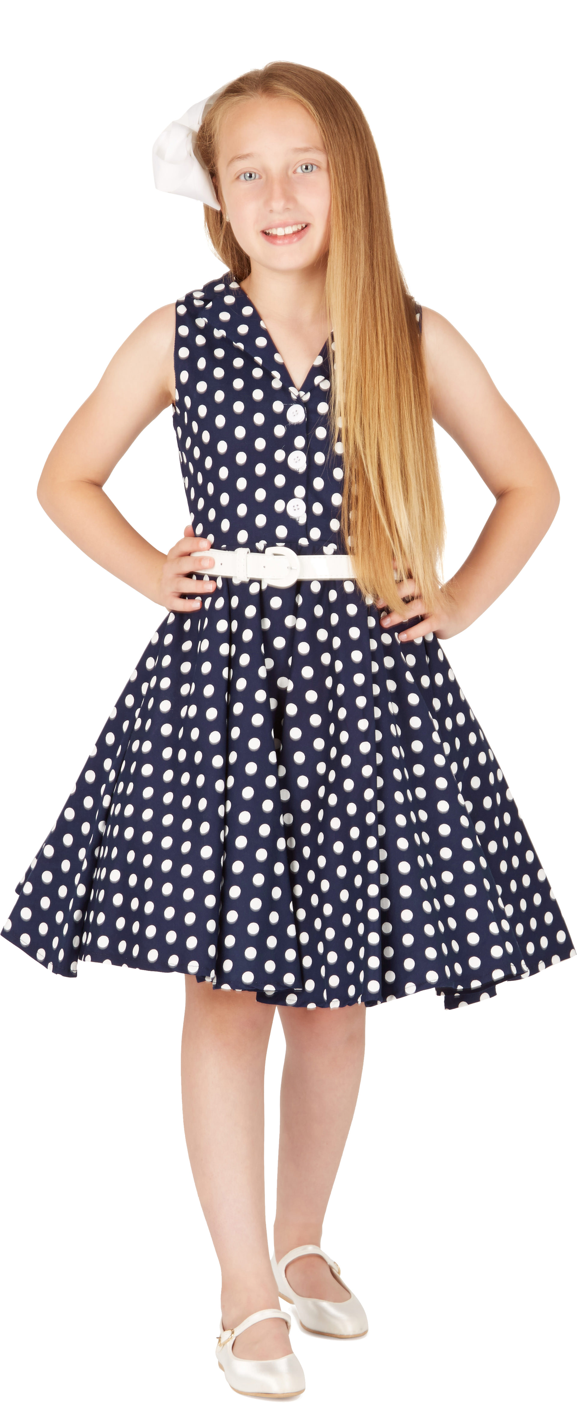 Kids \'Holly\' Vintage Polka Dot 50\'s Party Girls Bridesmaid Prom ...