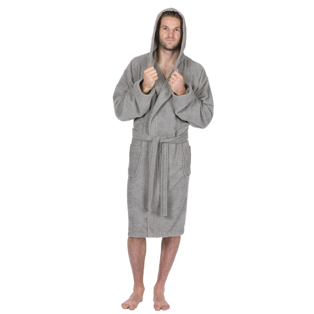 mens deluxe luxury cotton soft terry cloth bath spa robe towelling dressing gown ebay. Black Bedroom Furniture Sets. Home Design Ideas