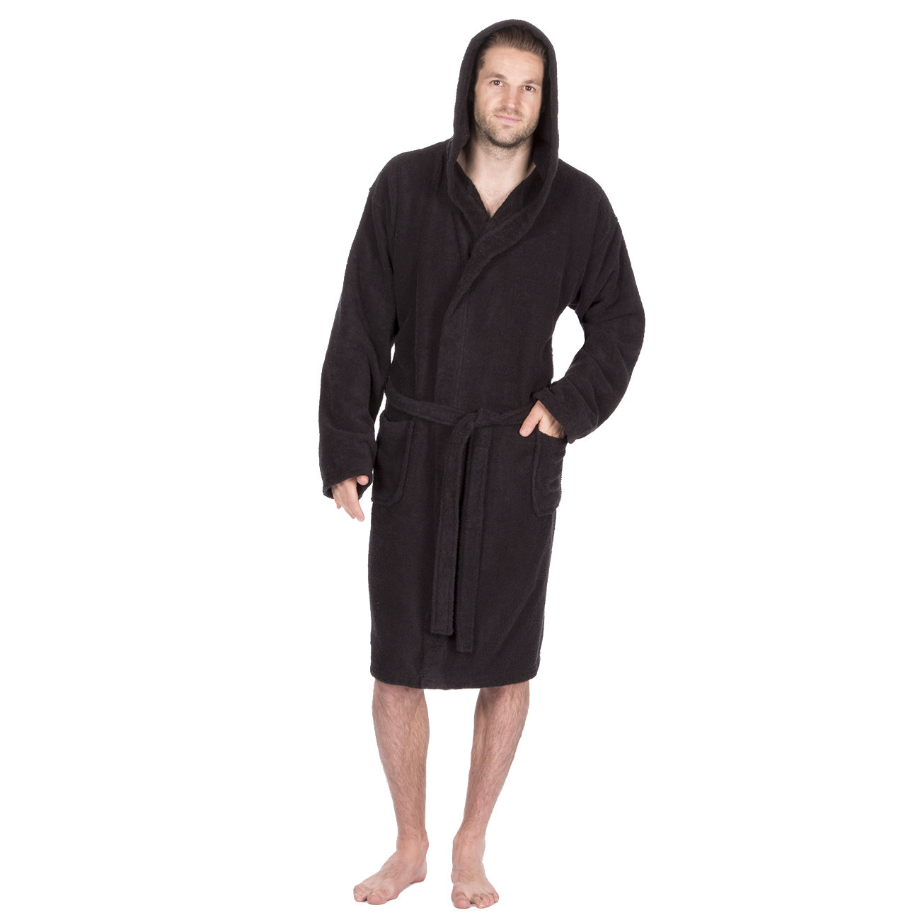 mens deluxe luxury cotton soft terry cloth bath spa robe. Black Bedroom Furniture Sets. Home Design Ideas
