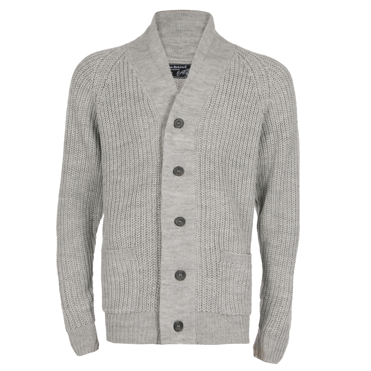 Mens Shawl Collar Cardigan Thick Warm Sweater Knitted Plain Cable ...