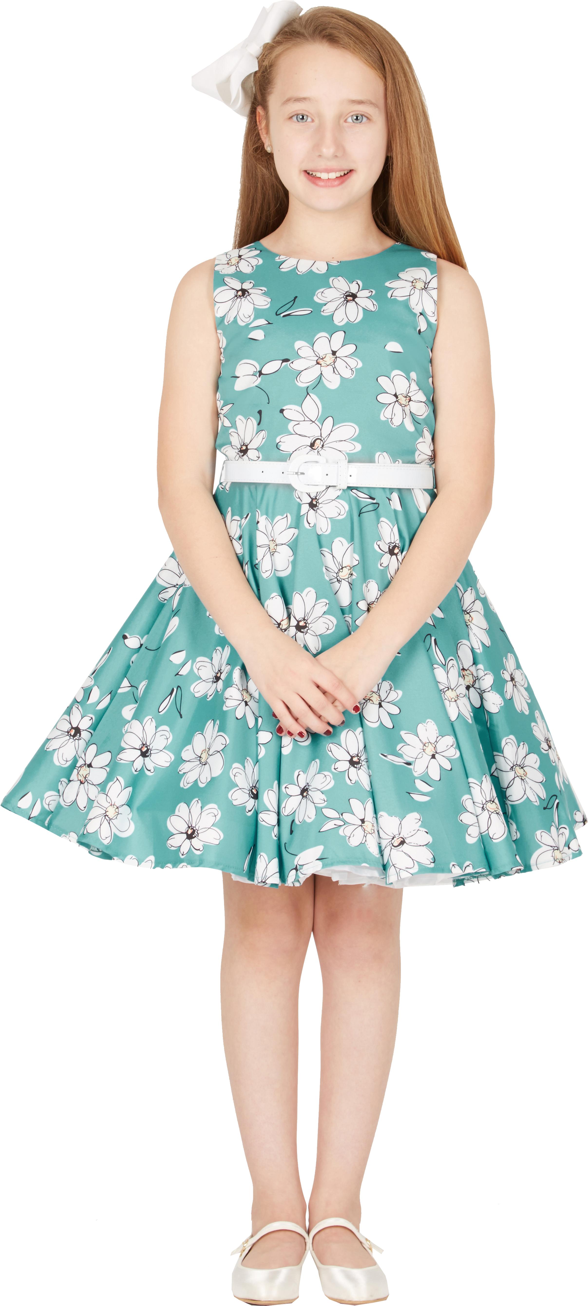 Kids \'Audrey\' Vintage Daisy 50\'s Party Girls Prom Dress   eBay