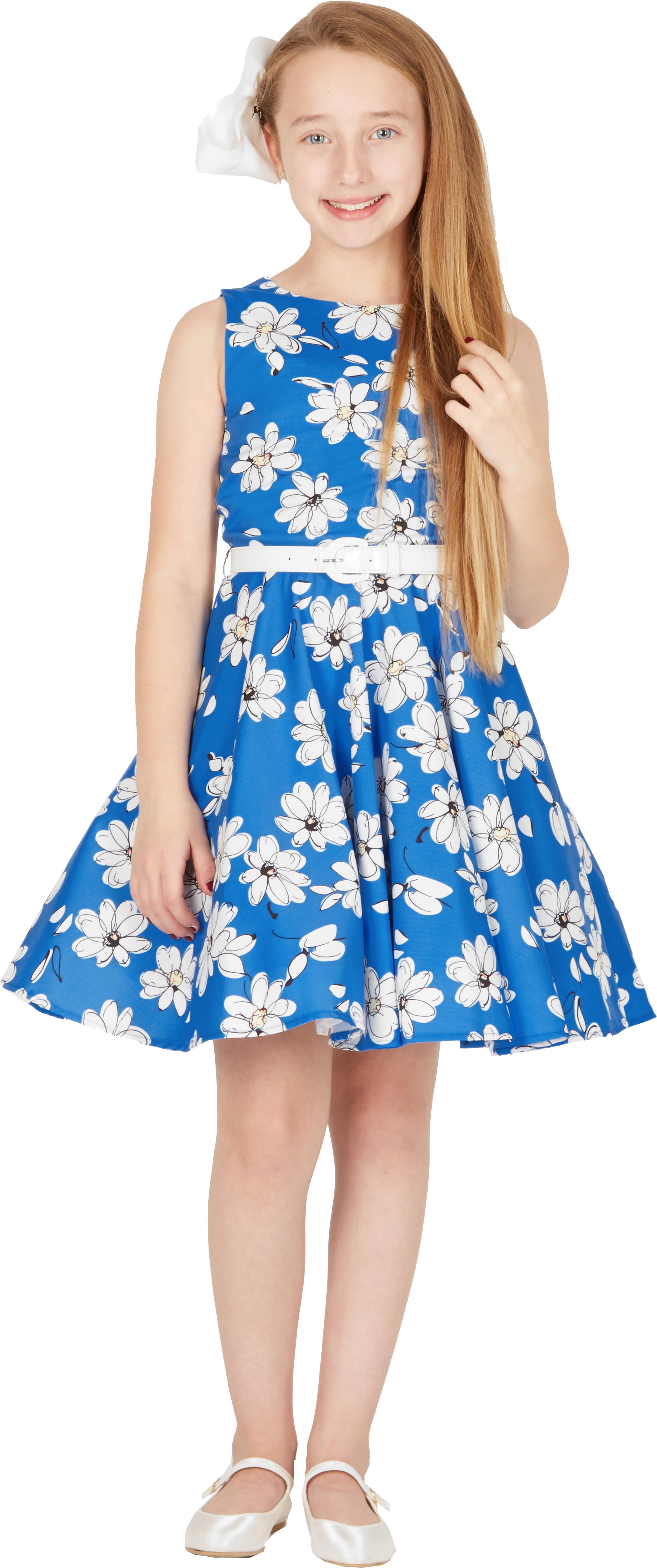 e8d693bf6ab9c Kids  Audrey  Vintage Daisy 50 s Party Girls Prom Dress