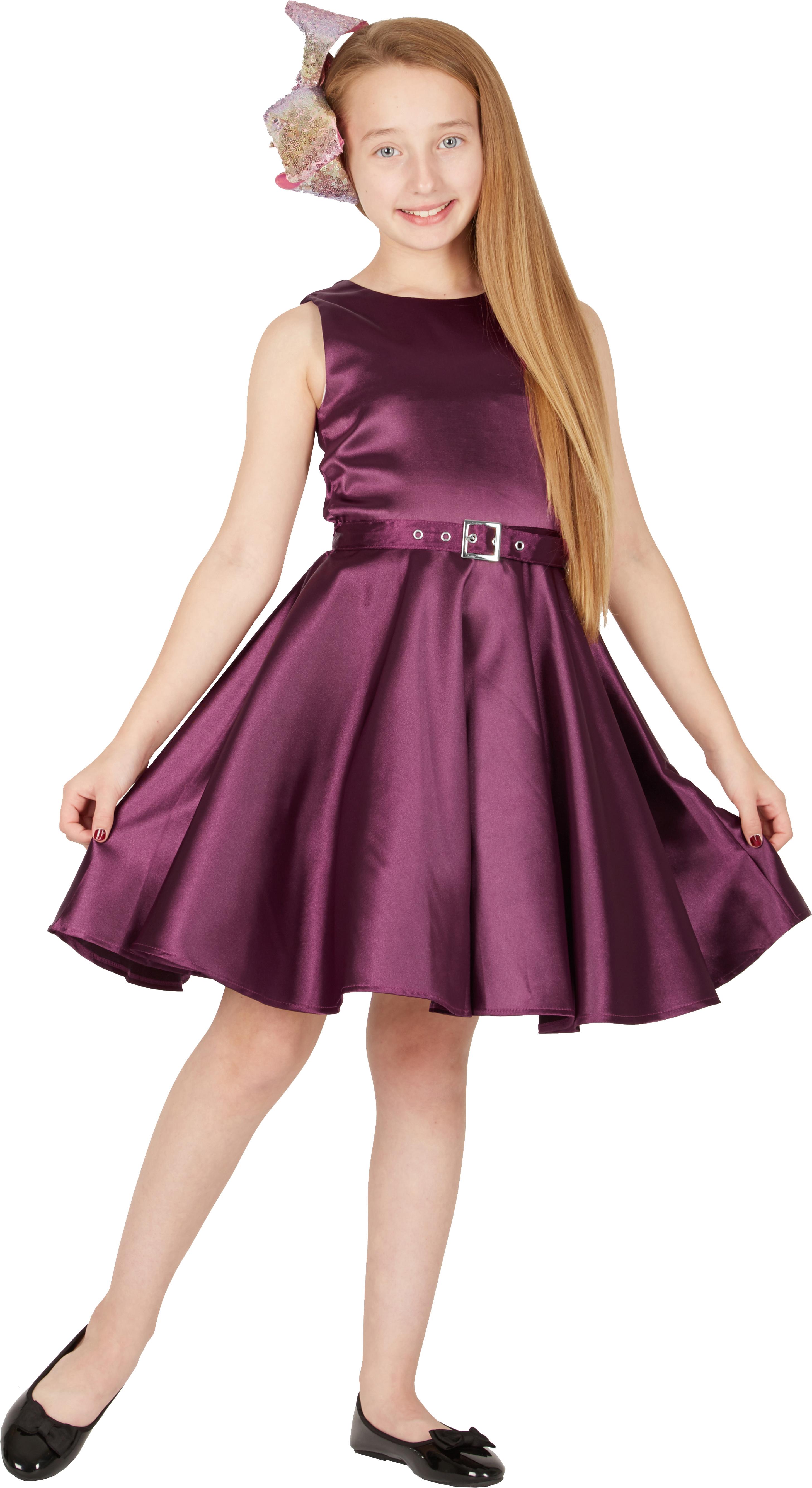 Kids \'Audrey\' Vintage Satin Clarity 50\'s Party Girls Prom Dress | eBay