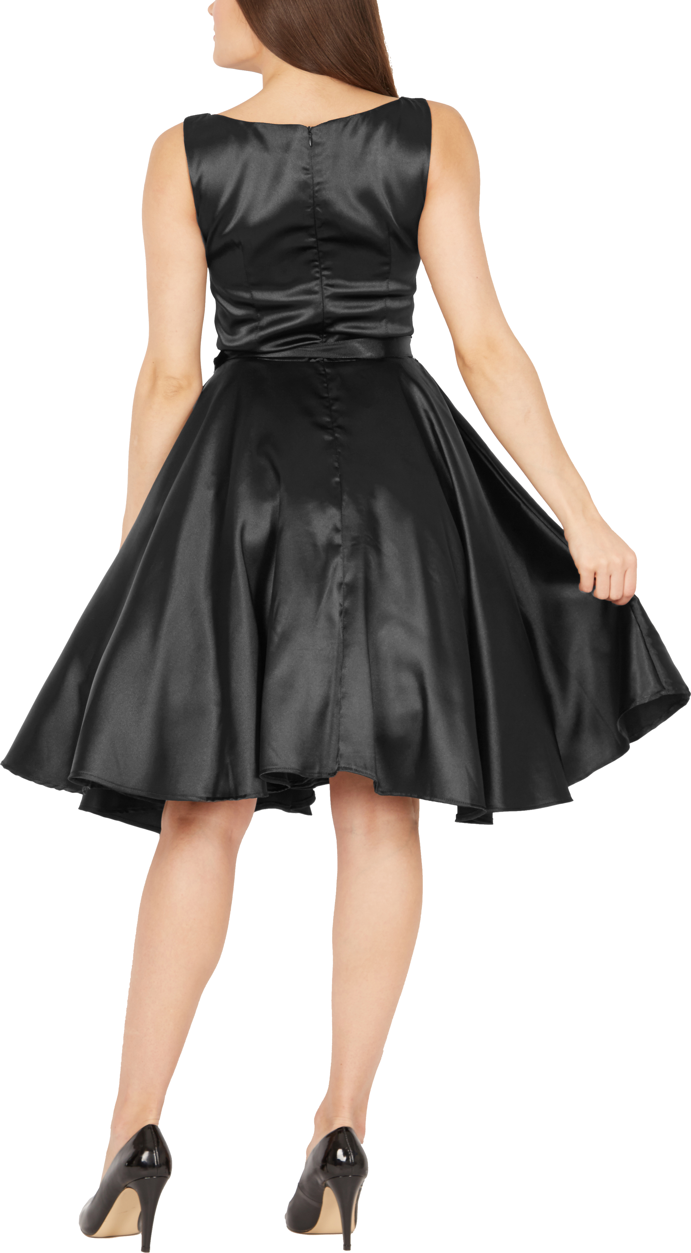 BlackButterfly-Audrey-Vintage-Satin-Clarity-Vintage-50-039-s-Rockabilly-Swing-Dress thumbnail 6