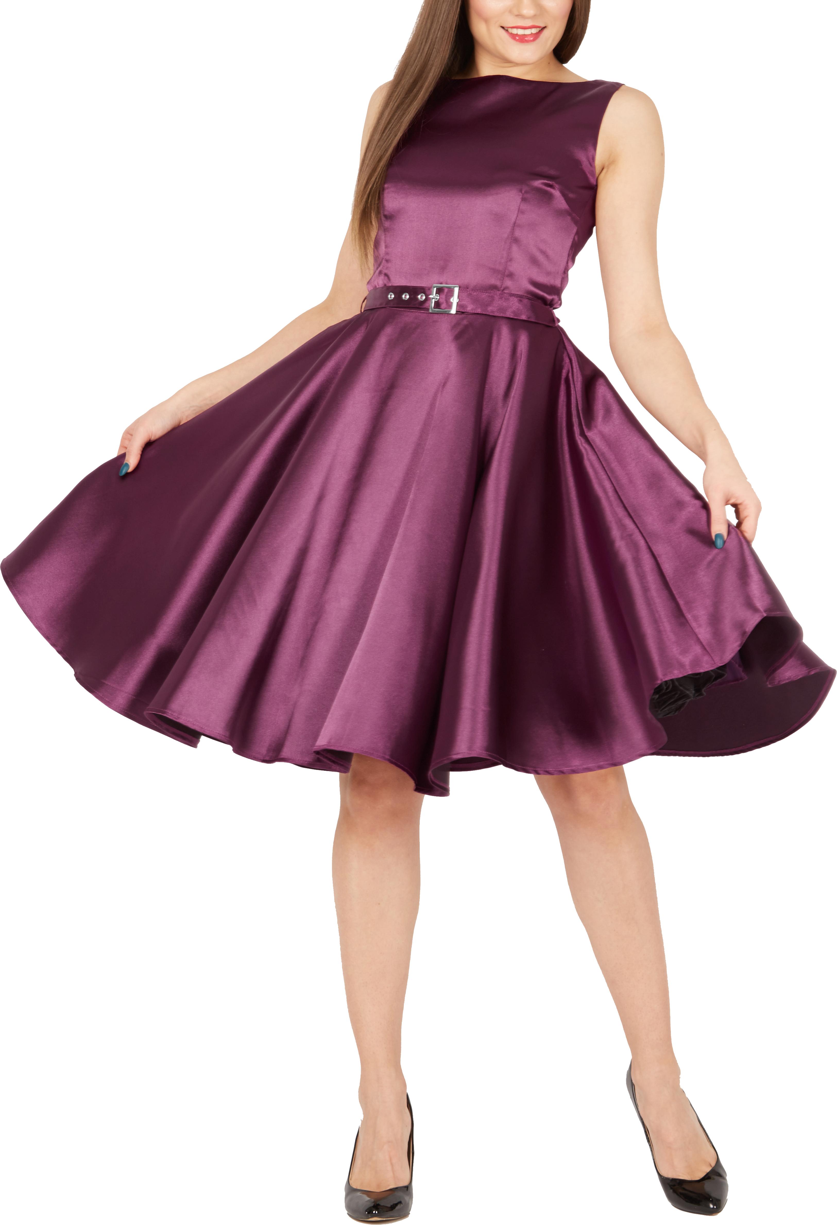 BlackButterfly-Audrey-Vintage-Satin-Clarity-Vintage-50-039-s-Rockabilly-Swing-Dress thumbnail 13