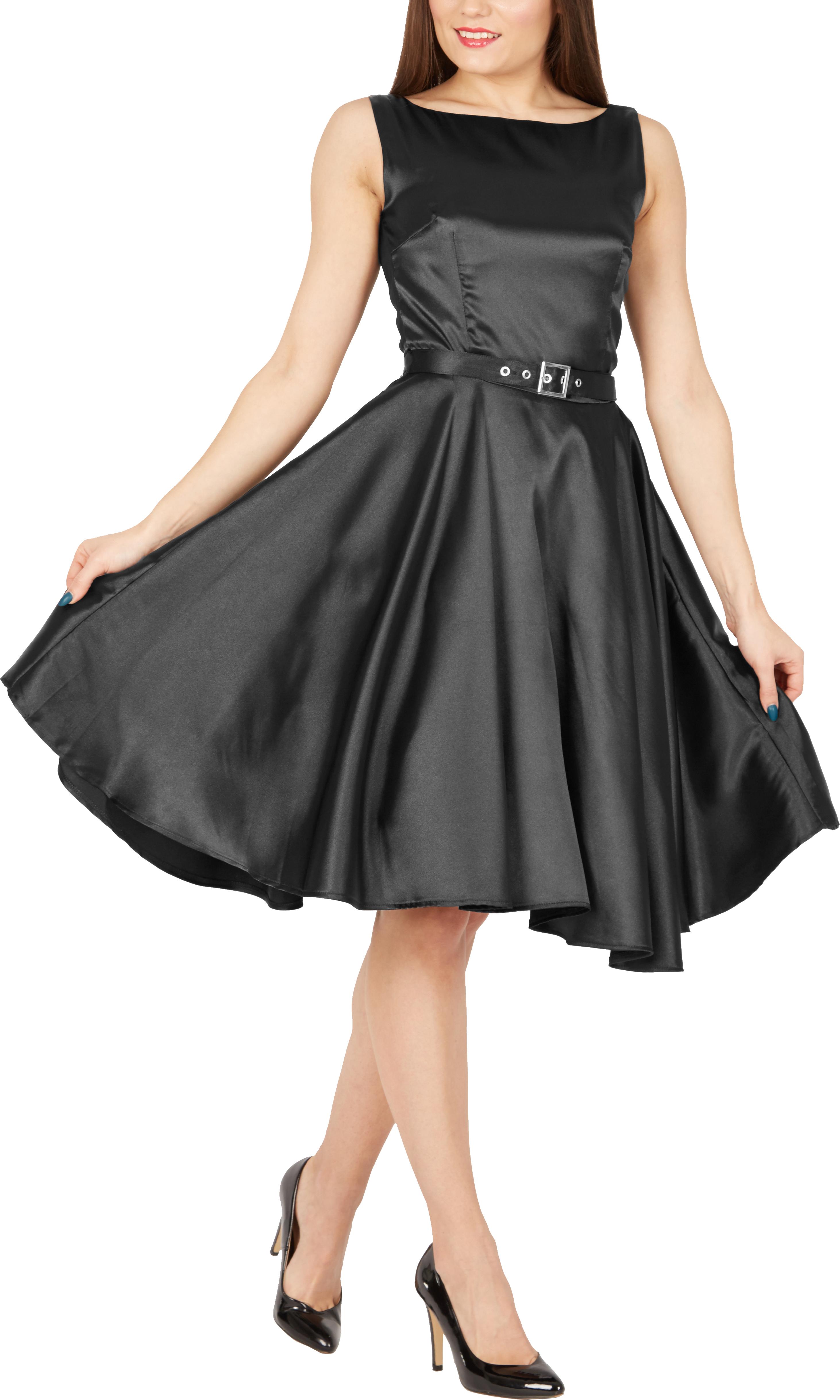 BlackButterfly-Audrey-Vintage-Satin-Clarity-Vintage-50-039-s-Rockabilly-Swing-Dress thumbnail 3